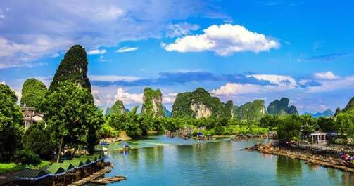 汤阴到大漓江、印象刘三姐、银子岩、古东瀑布、阳朔